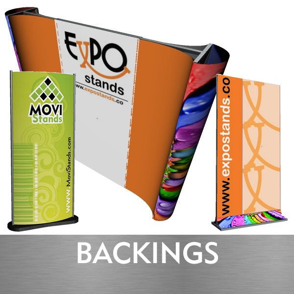 Backings y displays moviles