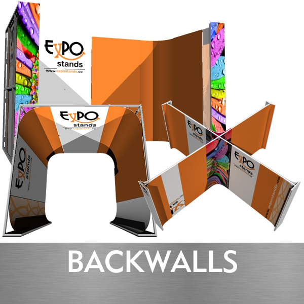 Backwalls y muros portatiles desarmables