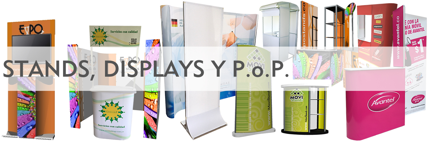 Stands Displays exhibidores portables